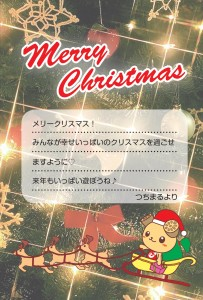 クリスマスカード つちまる